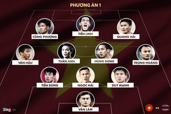 2 đội hình mạnh nhất tuyển Việt Nam đấu Thái Lan
