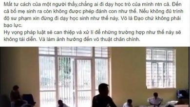 Photo of Thầy giáo dạy võ dùng bạo lực, khiến cộng đồng bức xúc
